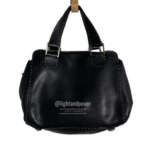Fendi Black Leather Selleria Satchel EUC